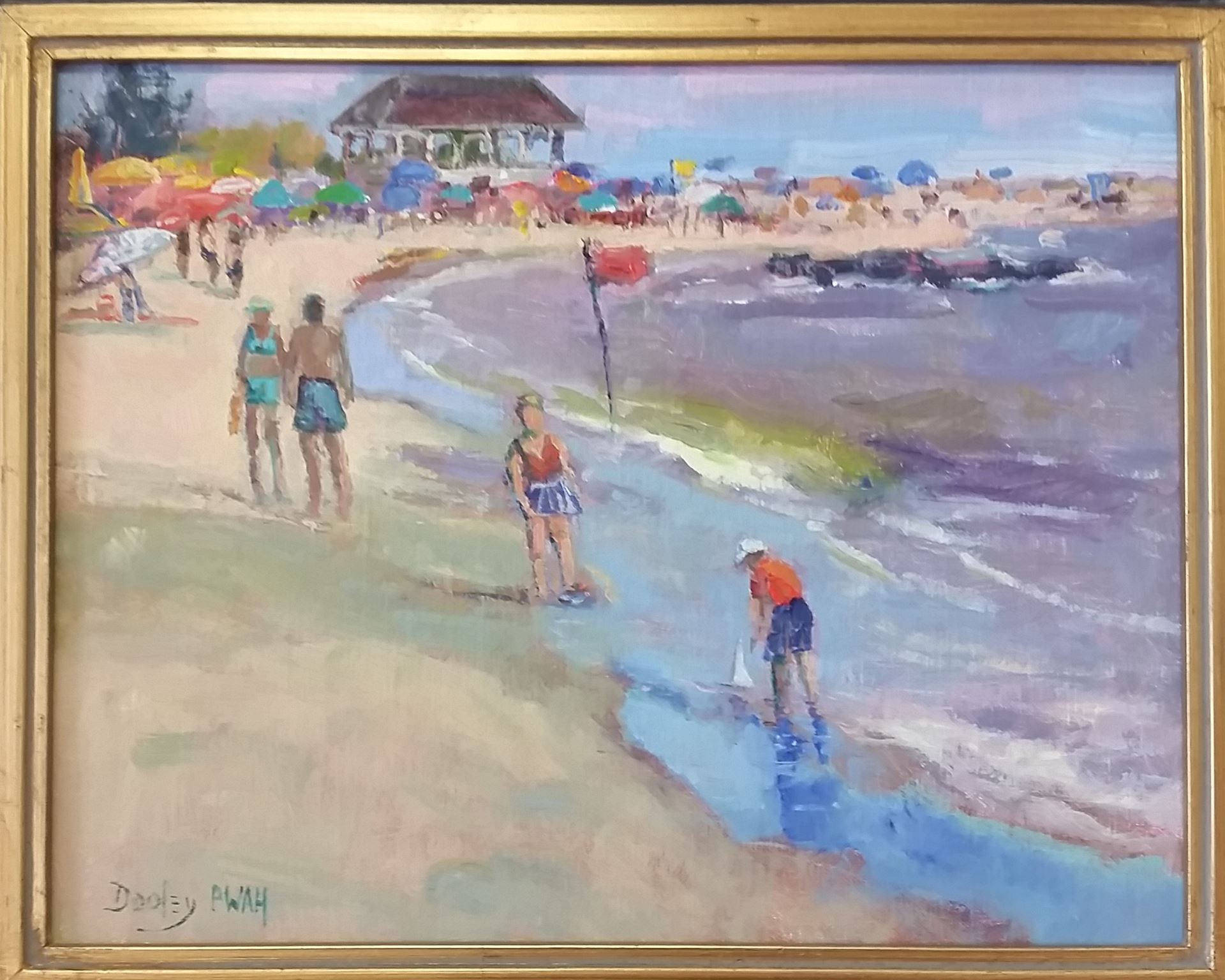 Visions of New Jersey. At The Beach in September by Ramona Dooley